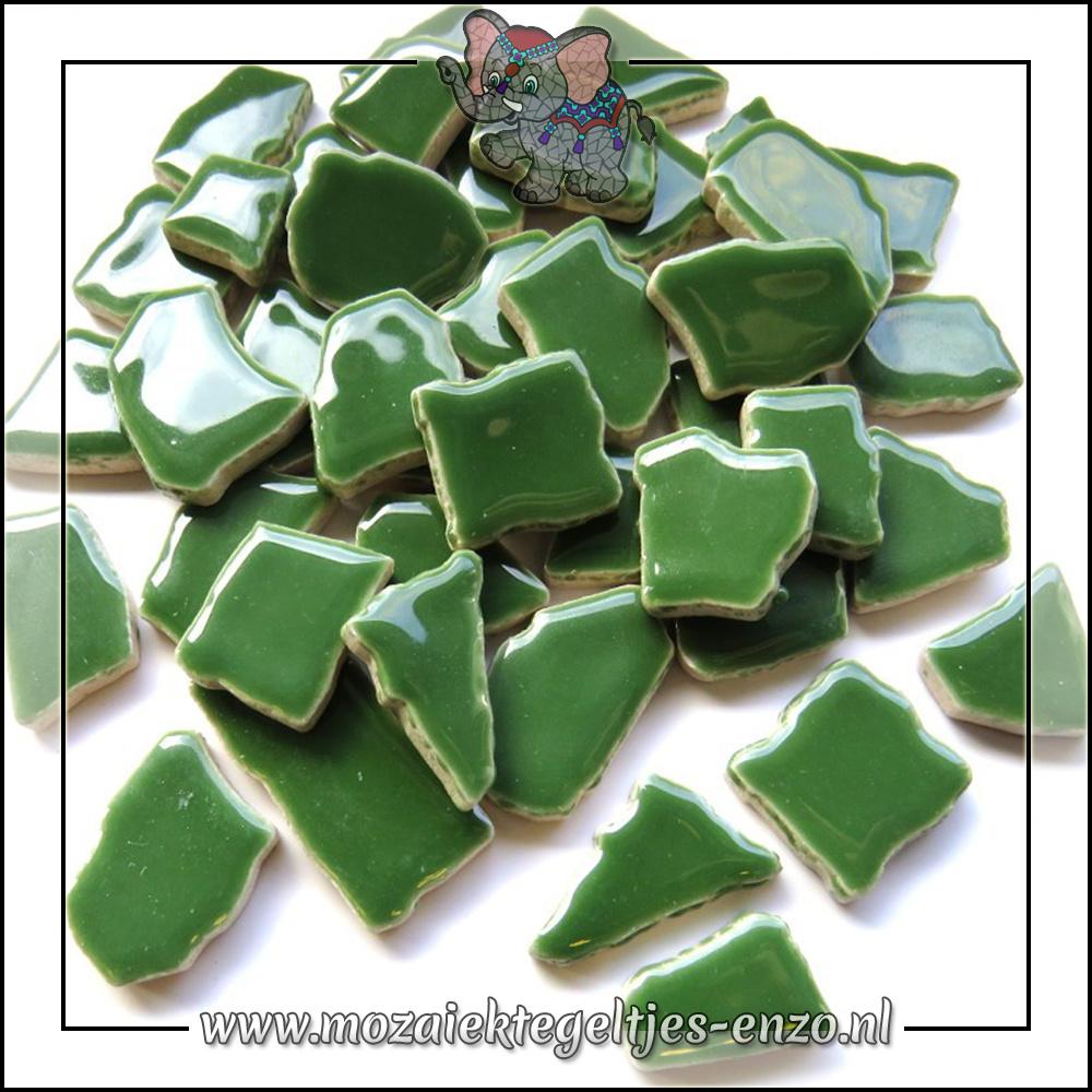 Keramiek Puzzelstukjes Normaal | Enkele Kleuren | 50 gram |Eucalyptus Green