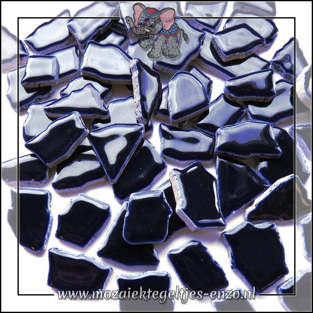 Keramiek Puzzelstukjes Normaal | Enkele Kleuren | 50 gram |Blue Black