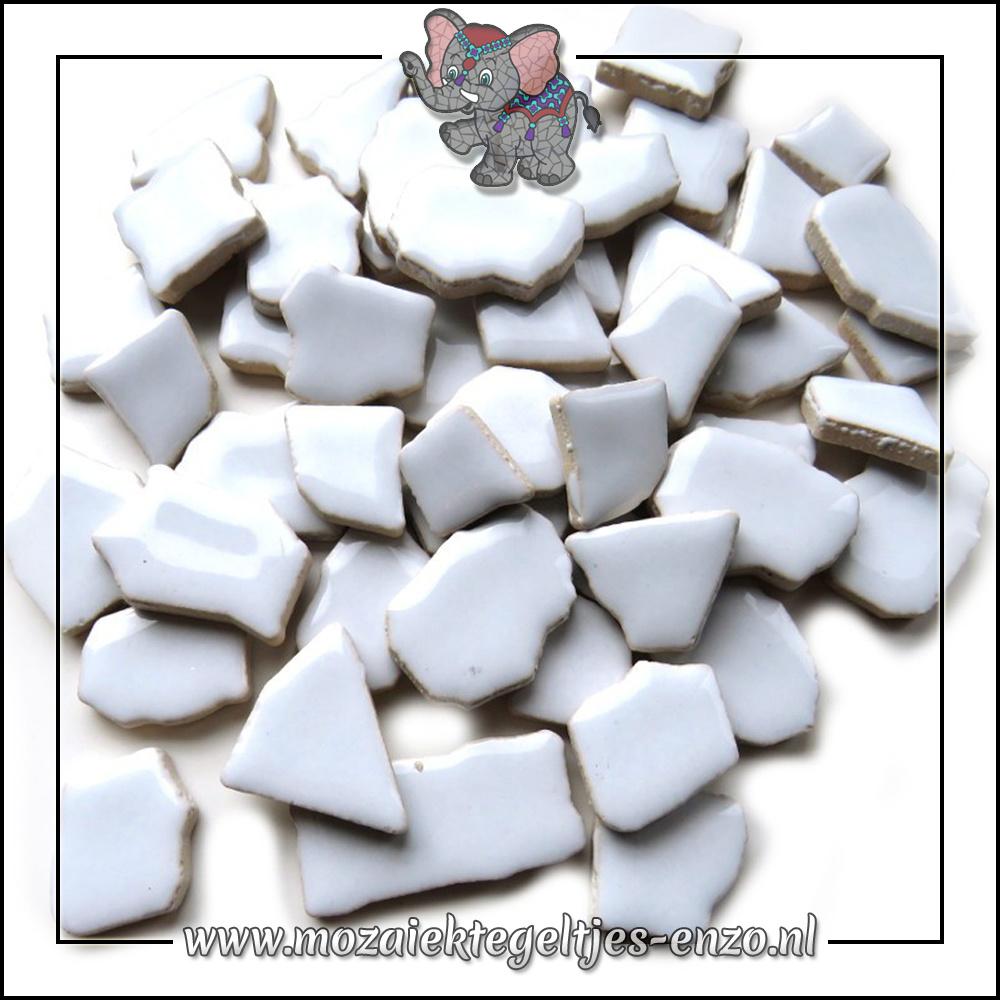 Keramiek Puzzelstukjes Normaal | Enkele Kleuren | 50 gram |Ice Blue