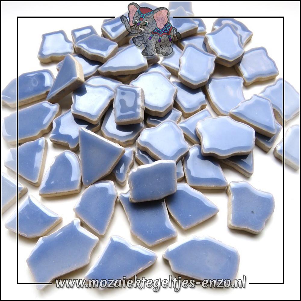 Keramiek Puzzelstukjes Normaal | Enkele Kleuren | 50 gram |Cornflower