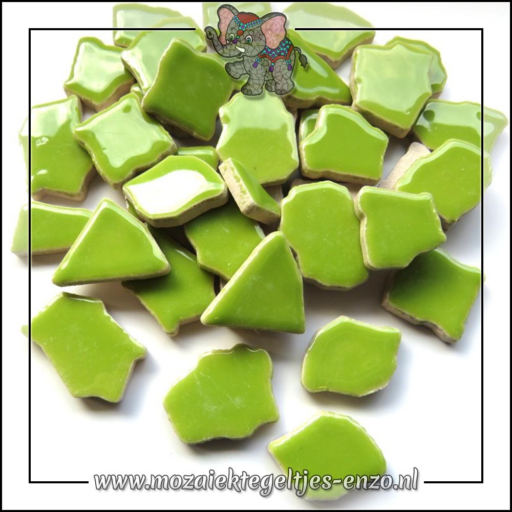 Keramiek Puzzelstukjes Normaal | Enkele Kleuren | 50 gram |Kelly Green