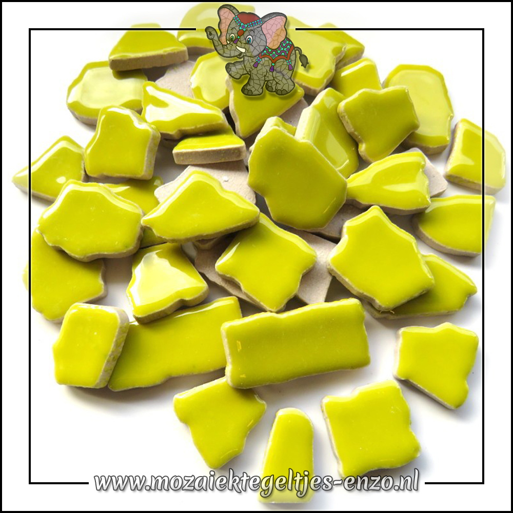 Keramiek Puzzelstukjes Normaal | Enkele Kleuren | 50 gram |Acid Yellow