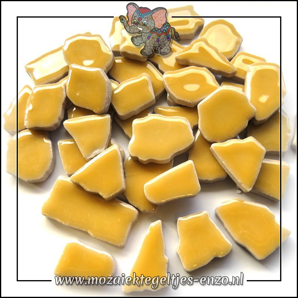 Keramiek Puzzelstukjes Normaal   Enkele Kleuren   50 gram  Yellow Pepper