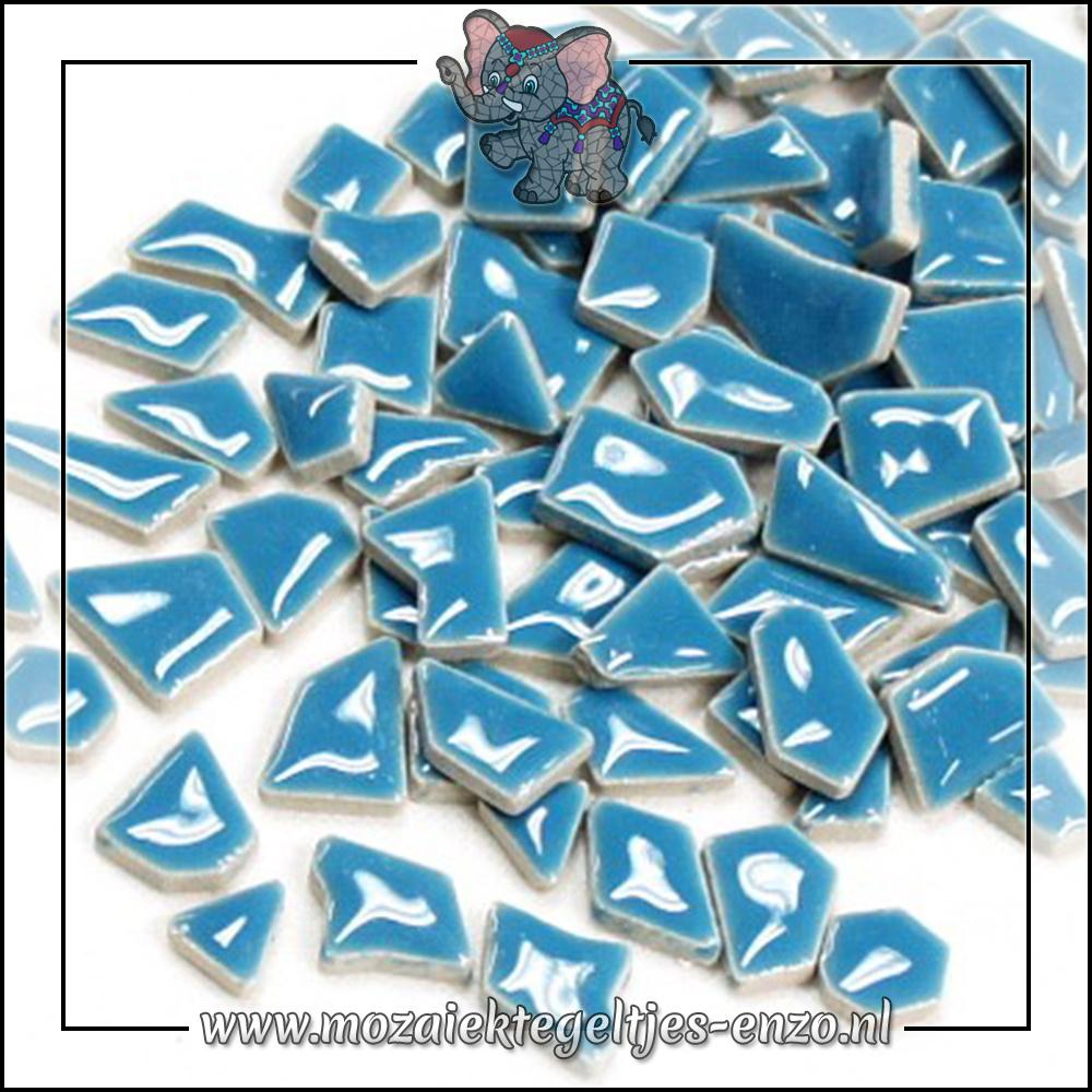 Keramiek Puzzelstukjes Normaal | Enkele Kleuren | 50 gram |Thalo Blue