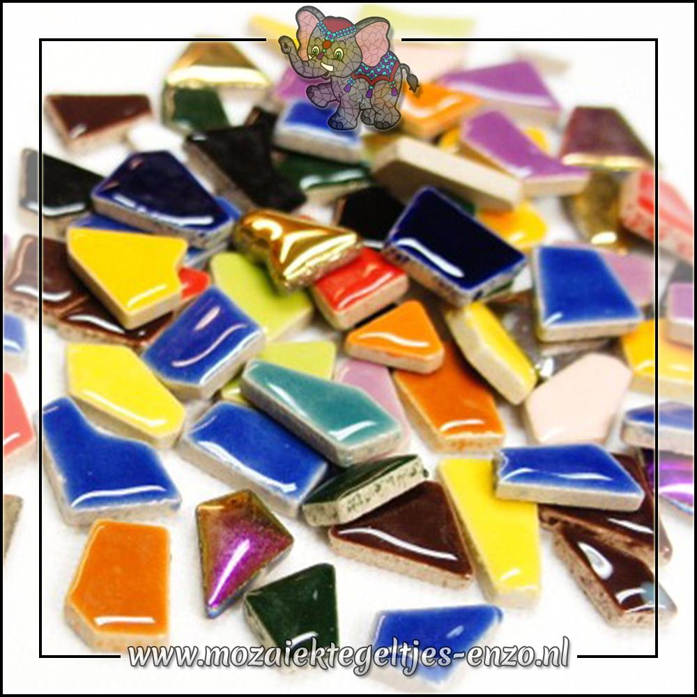 Keramiek Puzzelstukjes Normaal | Gemixte Kleuren | 50 gram |Mixed Colours