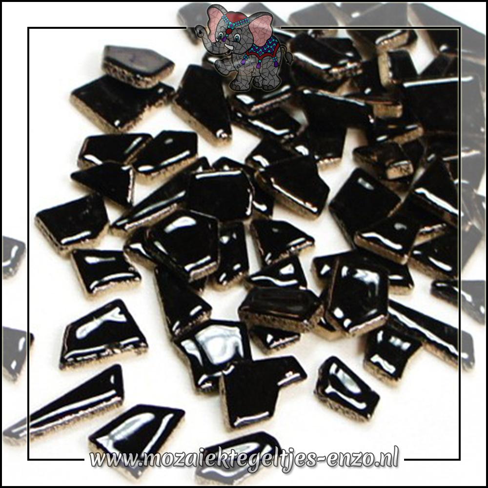 Keramiek Puzzelstukjes Normaal | Enkele Kleuren | 50 gram |Black