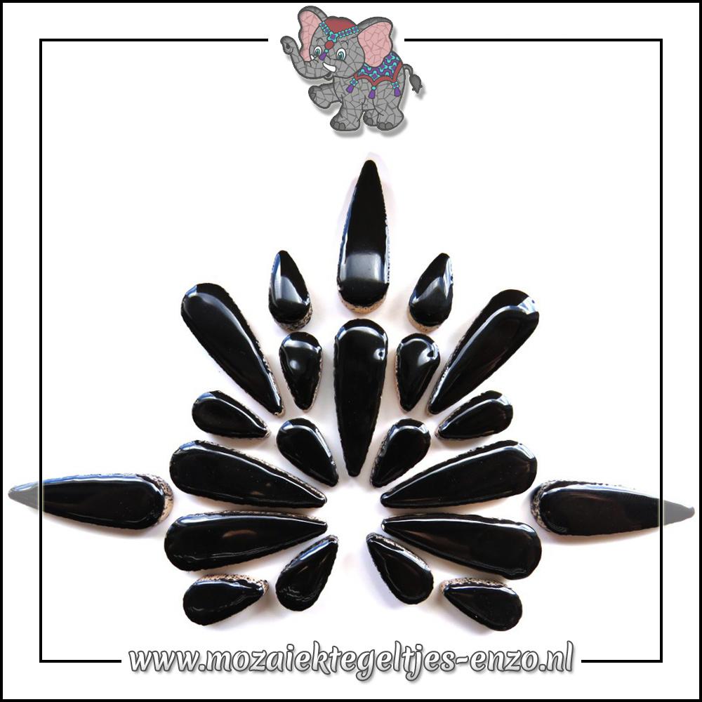 Keramiek Teardrops Normaal | 15-30mm | Enkele Kleuren | 50 gram |Black