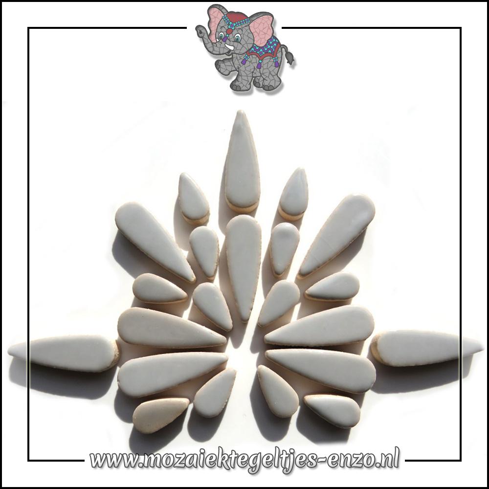 Keramiek Teardrops Normaal | 15-30mm | Enkele Kleuren | 50 gram |Dove Grey
