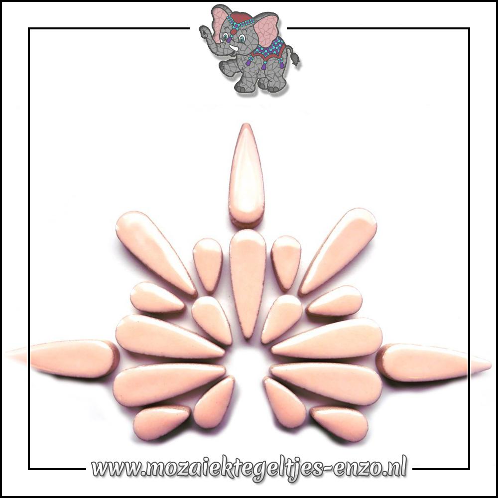 Keramiek Teardrops Normaal | 15-30mm | Enkele Kleuren | 50 gram |Sweet Pink