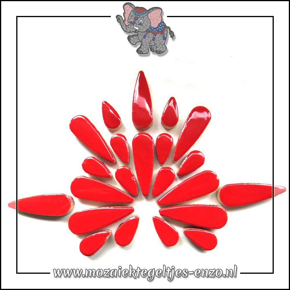 Keramiek Teardrops Normaal | 15-30mm | Enkele Kleuren | 50 gram |Poppy Red