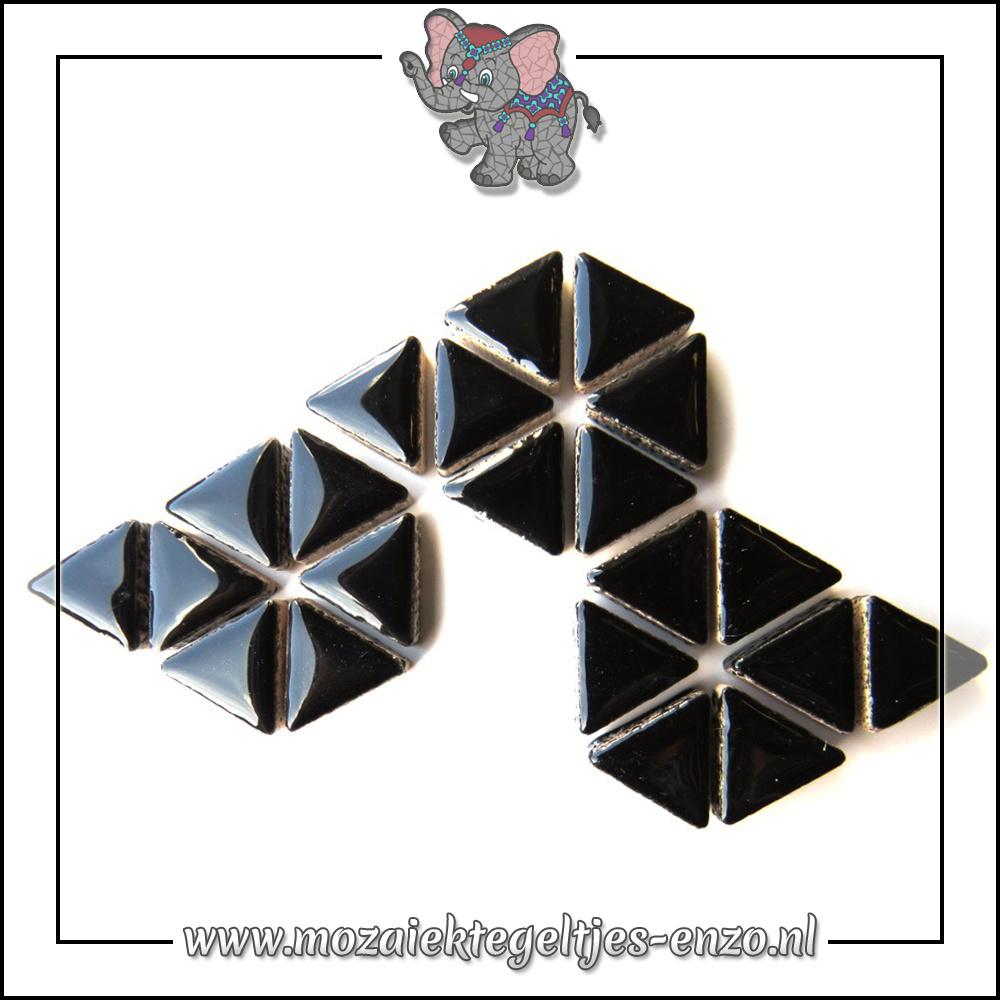 Keramiek Triangles Normaal | 15mm | Enkele Kleuren | 50 gram |Black