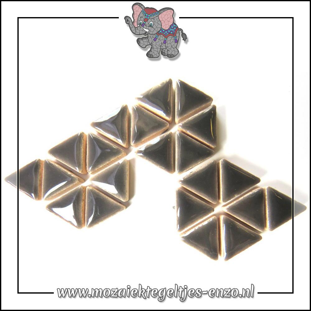 Keramiek Triangles Normaal | 15mm | Enkele Kleuren | 50 gram |Mid Grey