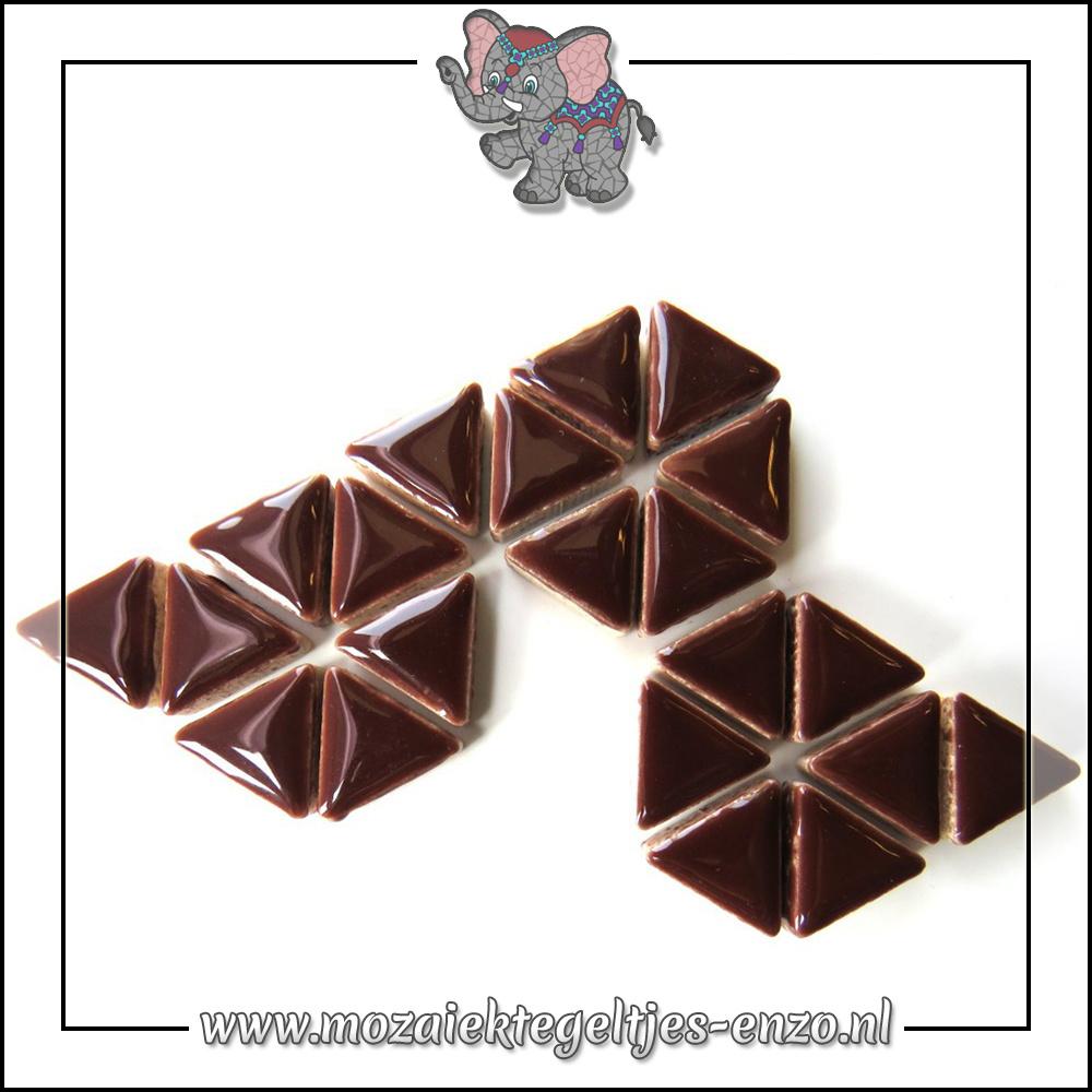Keramiek Triangles Normaal | 15mm | Enkele Kleuren | 50 gram |Burnt Umber