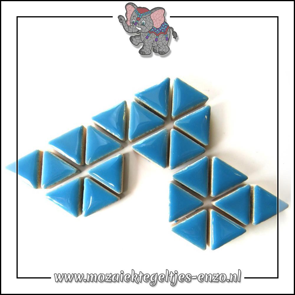 Keramiek Triangles Normaal | 15mm | Enkele Kleuren | 50 gram |Thalo Blue