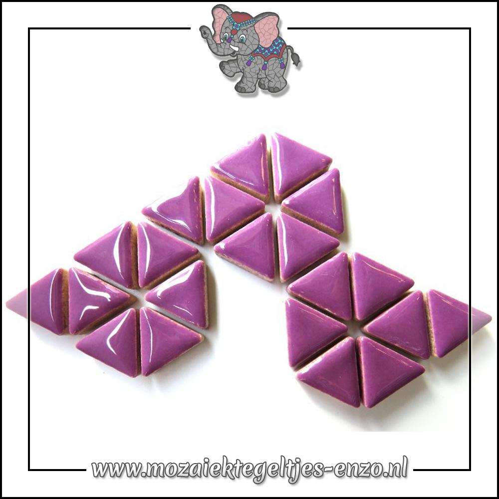 Keramiek Triangles Normaal | 15mm | Enkele Kleuren | 50 gram |Pretty Purple