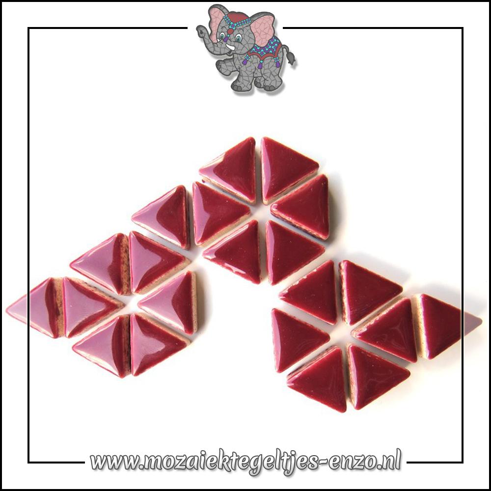 Keramiek Triangles Normaal | 15mm | Enkele Kleuren | 50 gram |Merlot