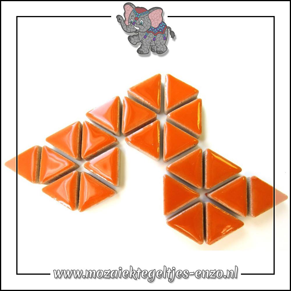 Keramiek Triangles Normaal   15mm   Enkele Kleuren   50 gram  Popsicle Orange