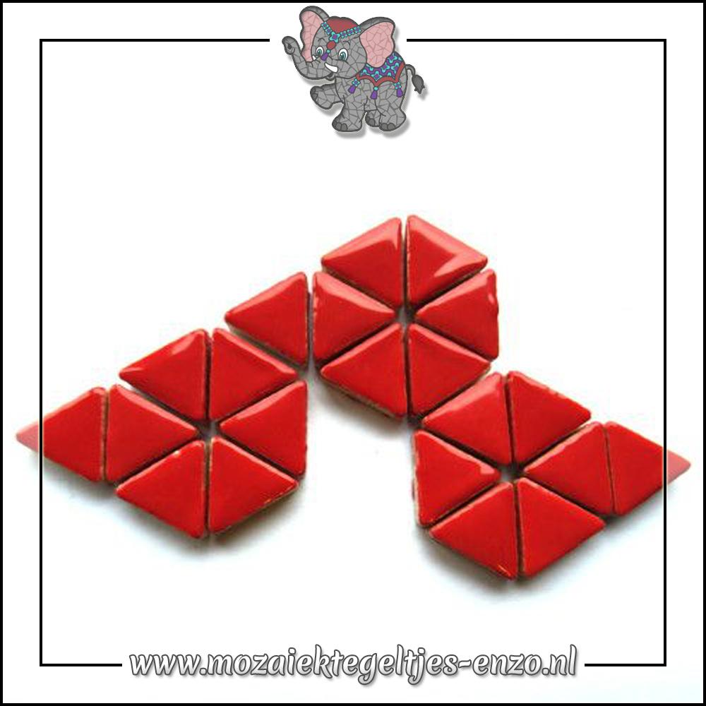 Keramiek Triangles Normaal   15mm   Enkele Kleuren   50 gram  Poppy Red