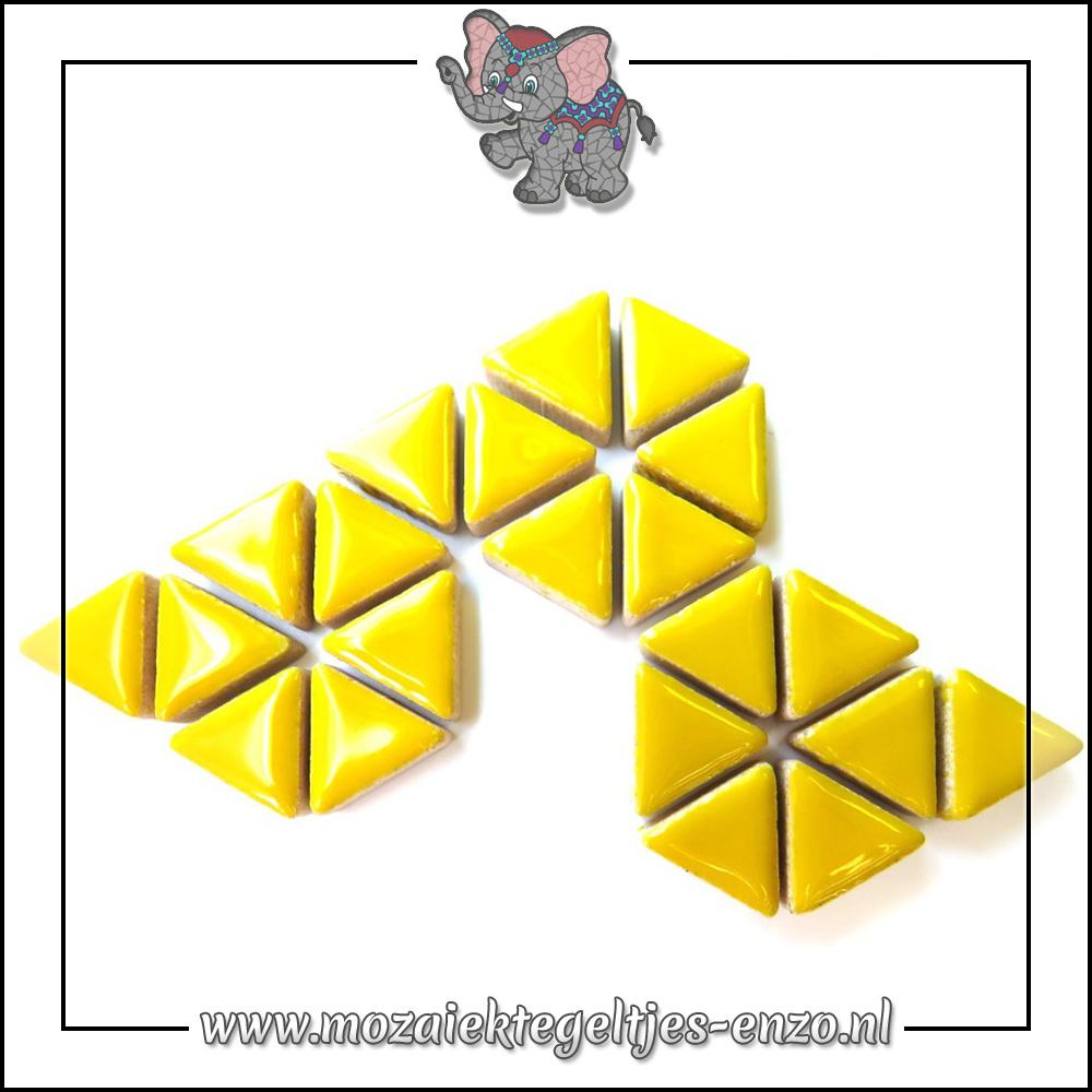 Keramiek Triangles Normaal | 15mm | Enkele Kleuren | 50 gram |Citrus Yellow