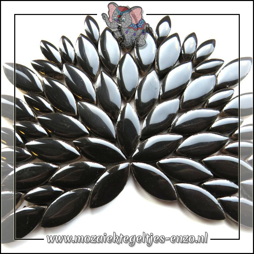 Keramiek Petals Normaal   14-21mm   Enkele Kleuren   50 gram  Black