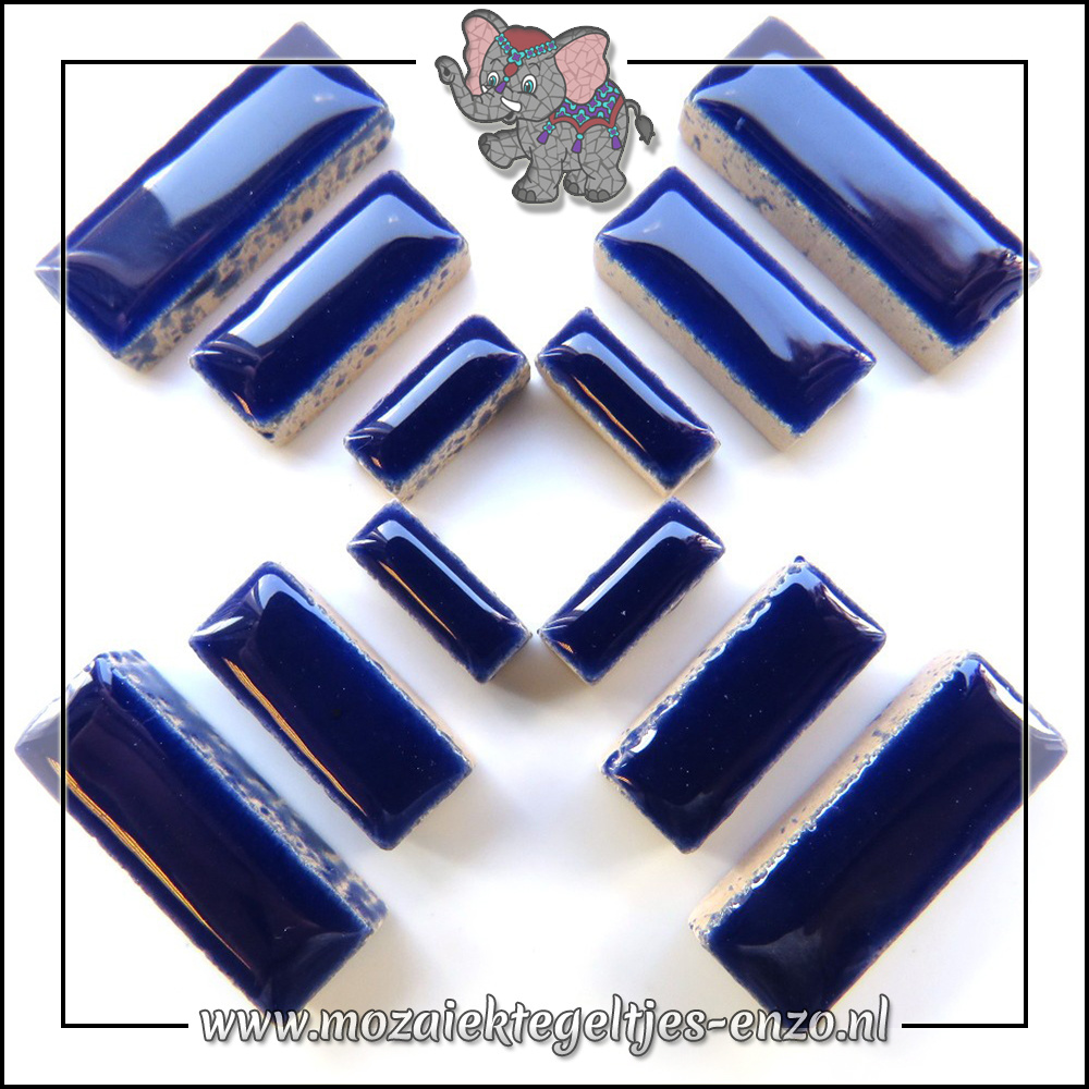 Keramiek Rectangles Normaal   4-6-10mm   Enkele Kleuren   50 gram  Indigo