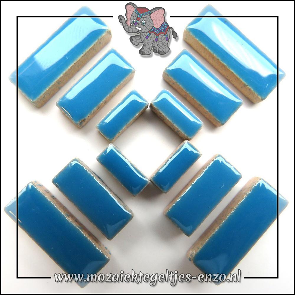 Keramiek Rectangles Normaal | 4-6-10mm | Enkele Kleuren | 50 gram |Thalo Blue