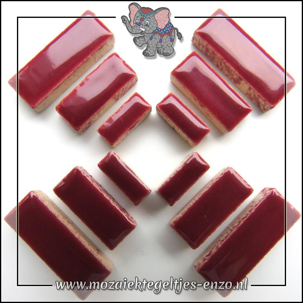 Keramiek Rectangles Normaal | 4-6-10mm | Enkele Kleuren | 50 gram |Merlot