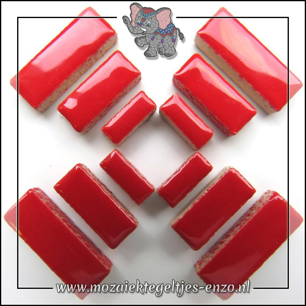 Keramiek Rectangles Normaal   4-6-10mm   Enkele Kleuren   50 gram  Poppy Red