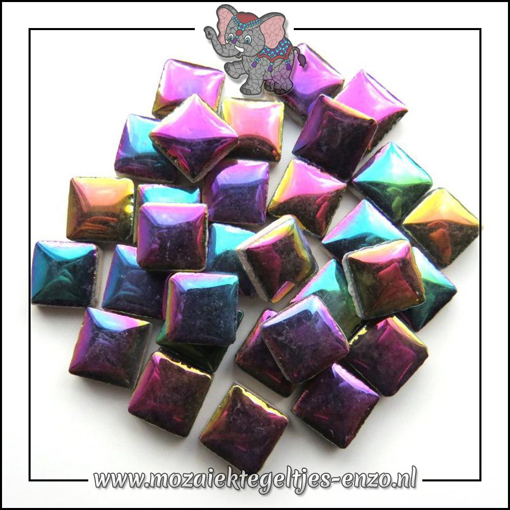 Geglazuurde Keramiek Stenen | 1cm | Enkele Kleuren | 60 stuks | Disco Lights
