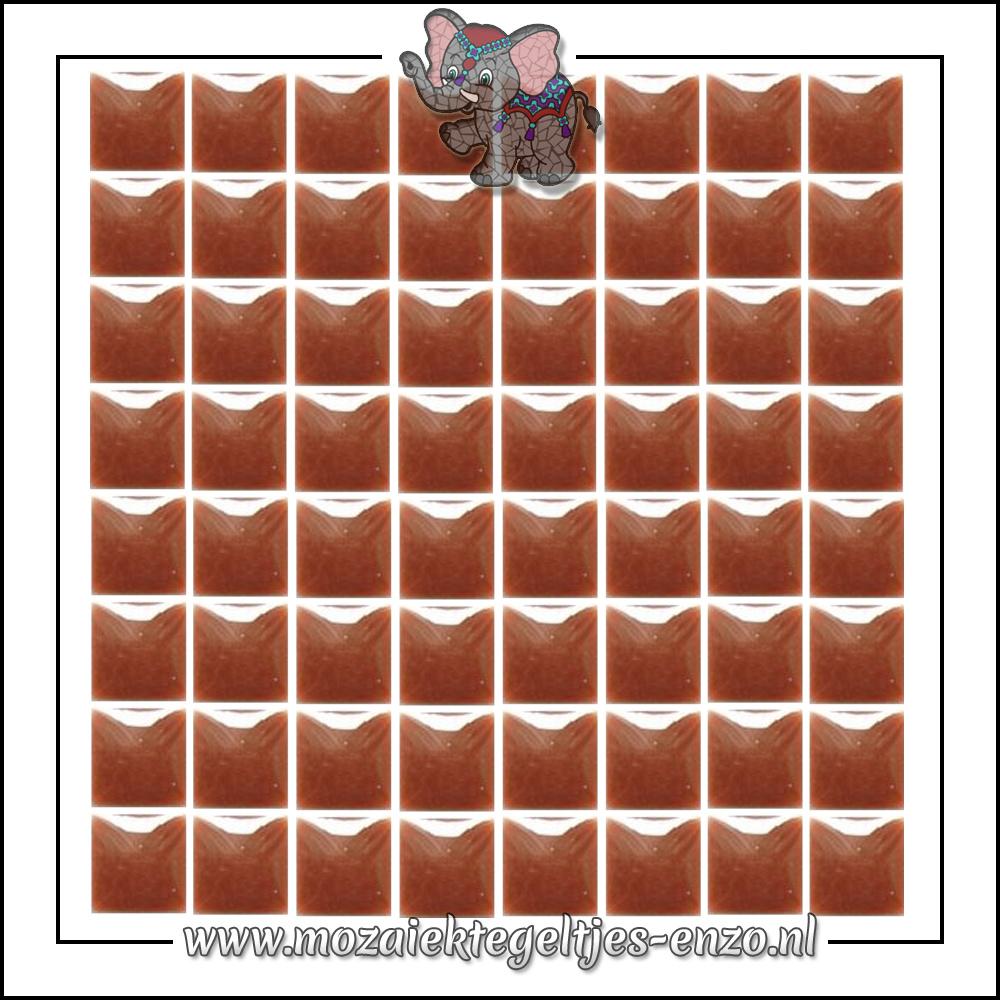 Geglazuurde Keramiek Stenen | 1cm | Enkele Kleuren | 60 stuks | Burnt Umber