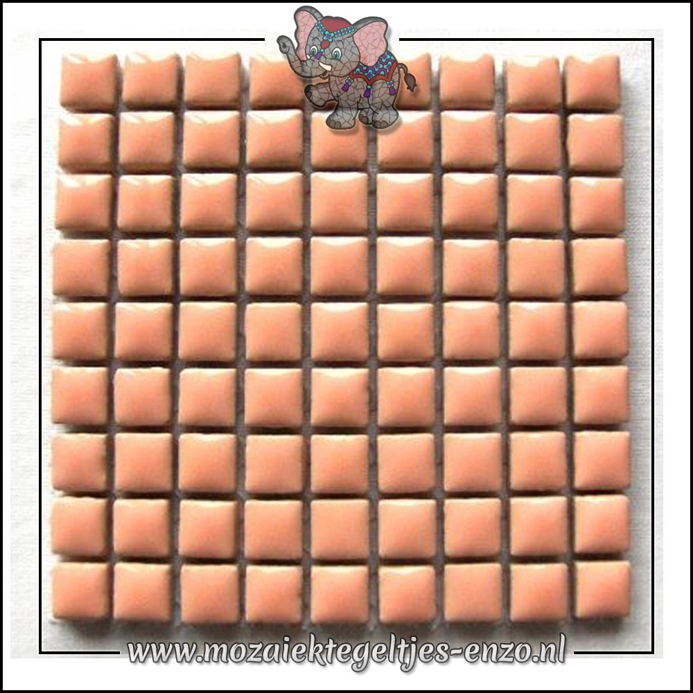 Geglazuurde Keramiek Stenen | 1cm | Enkele Kleuren | 60 stuks | Fresh Peach