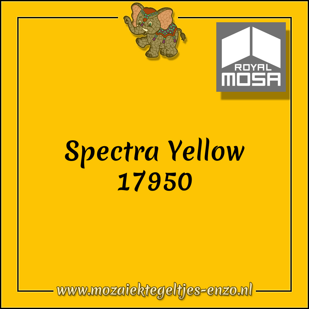 Royal Mosa Tegel Glanzend   7,5x15cm   Op maat gesneden   1 stuks   Spectra Yellow 17950