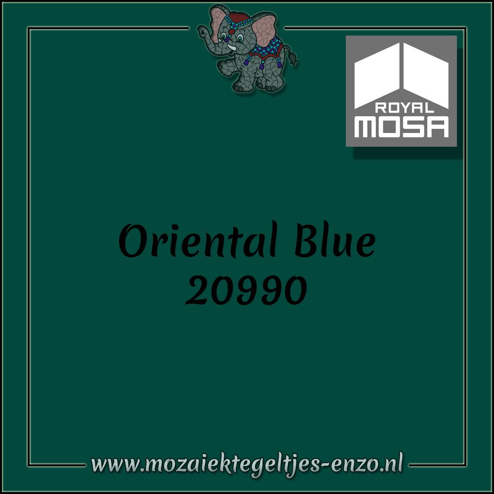 Royal Mosa Tegel Glanzend   7,5x15cm   Op maat gesneden   1 stuks  Oriental Blue 20990
