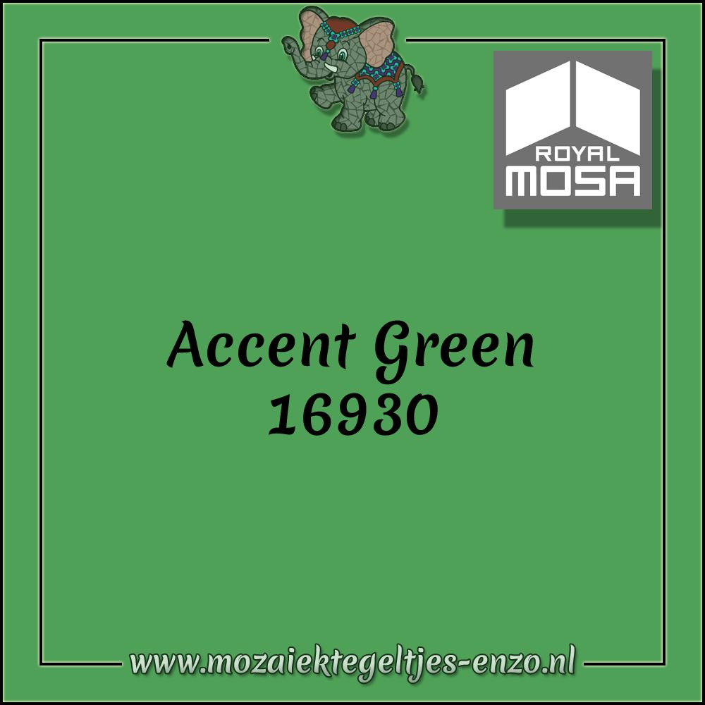 Royal Mosa Tegel Glanzend | 7,5x15cm | Op maat gesneden | 1 stuks |Accent Green 16930