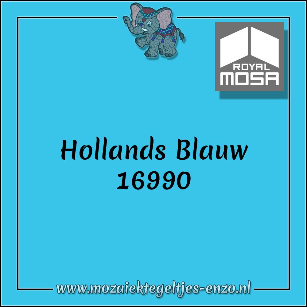 Royal Mosa Tegel Glanzend | 7,5x15cm | Op maat gesneden | 1 stuks |Hollands Blauw 16990