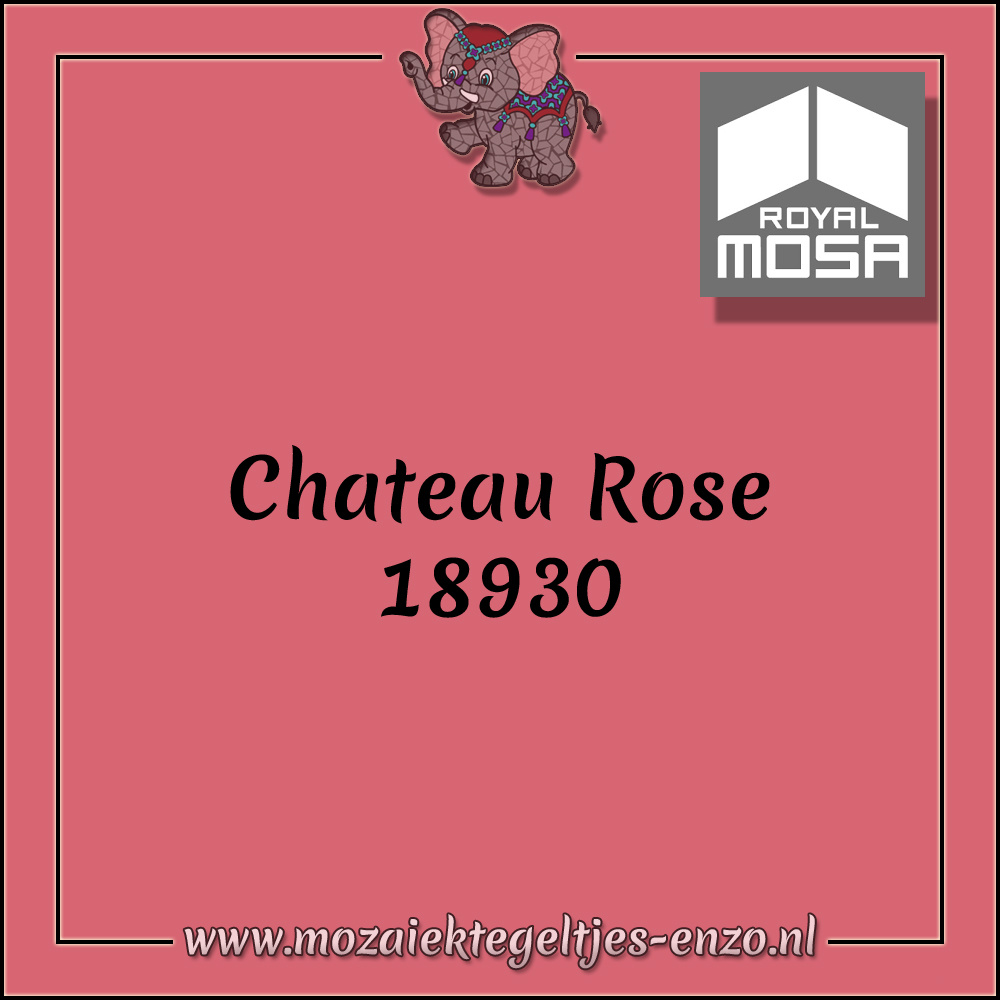 Royal Mosa Tegel Glanzend | 7,5x15cm | Op maat gesneden | 1 stuks |Chateau Rose 18930