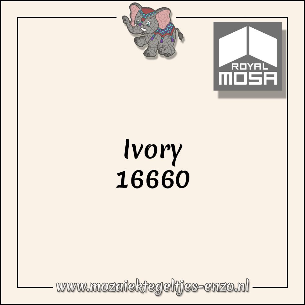 Royal Mosa Tegel Glanzend   7,5x15cm   Op maat gesneden   1 stuks  Ivory 16660