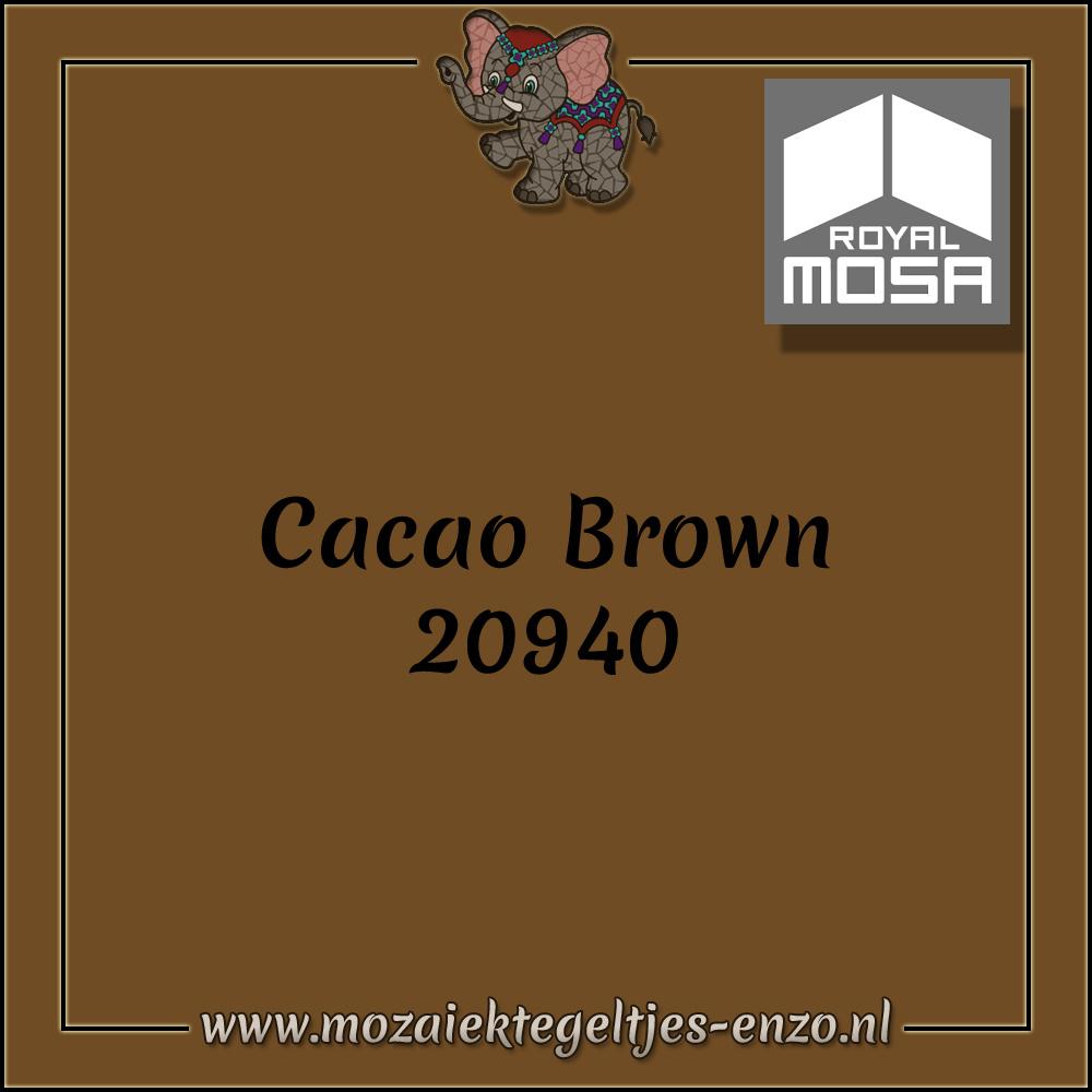 Royal Mosa Tegel Glanzend | 7,5x15cm | Op maat gesneden | 1 stuks |Cacao Brown 20940