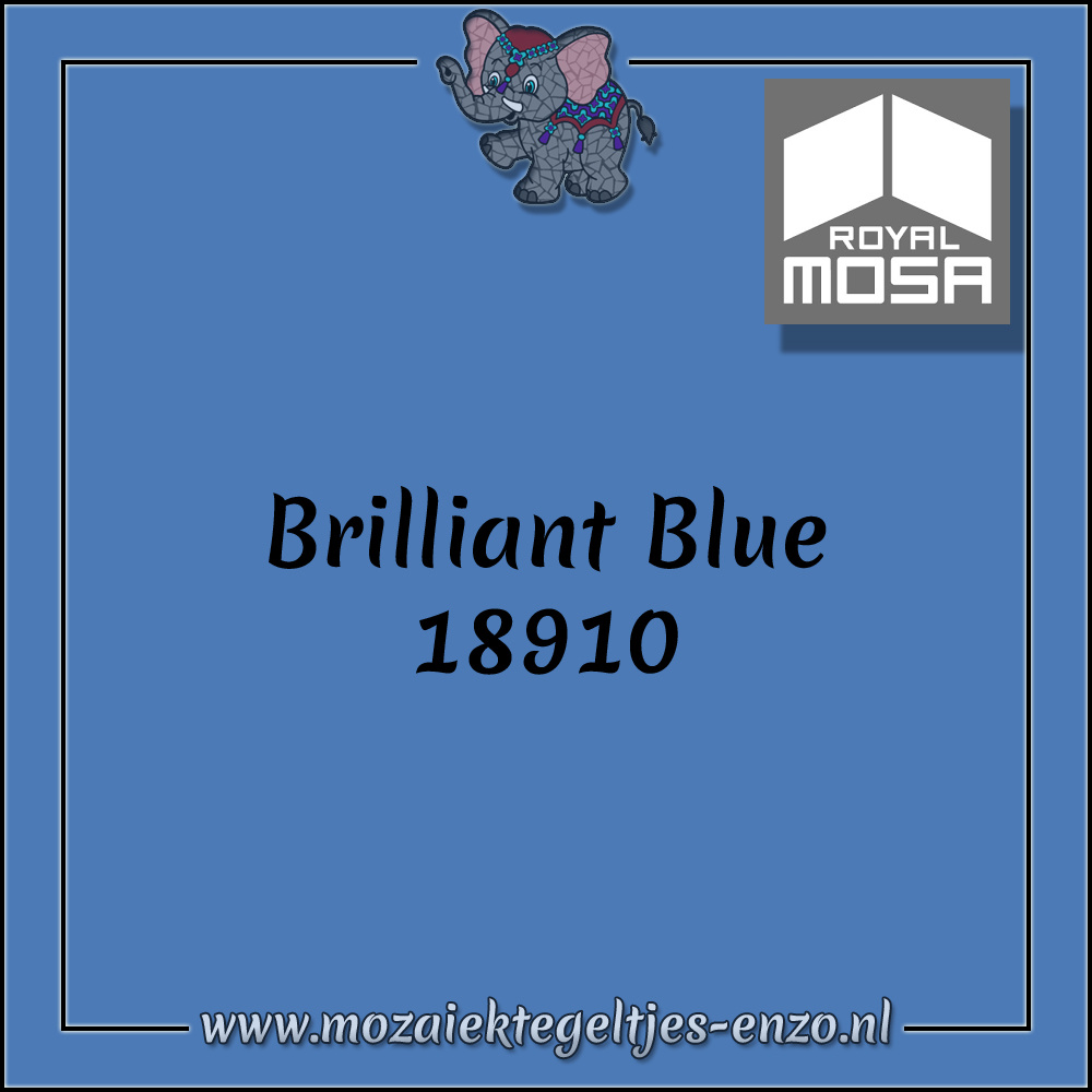 Royal Mosa Tegel Glanzend | 7,5x15cm | Op maat gesneden | 1 stuks |Brilliant Blue 18910