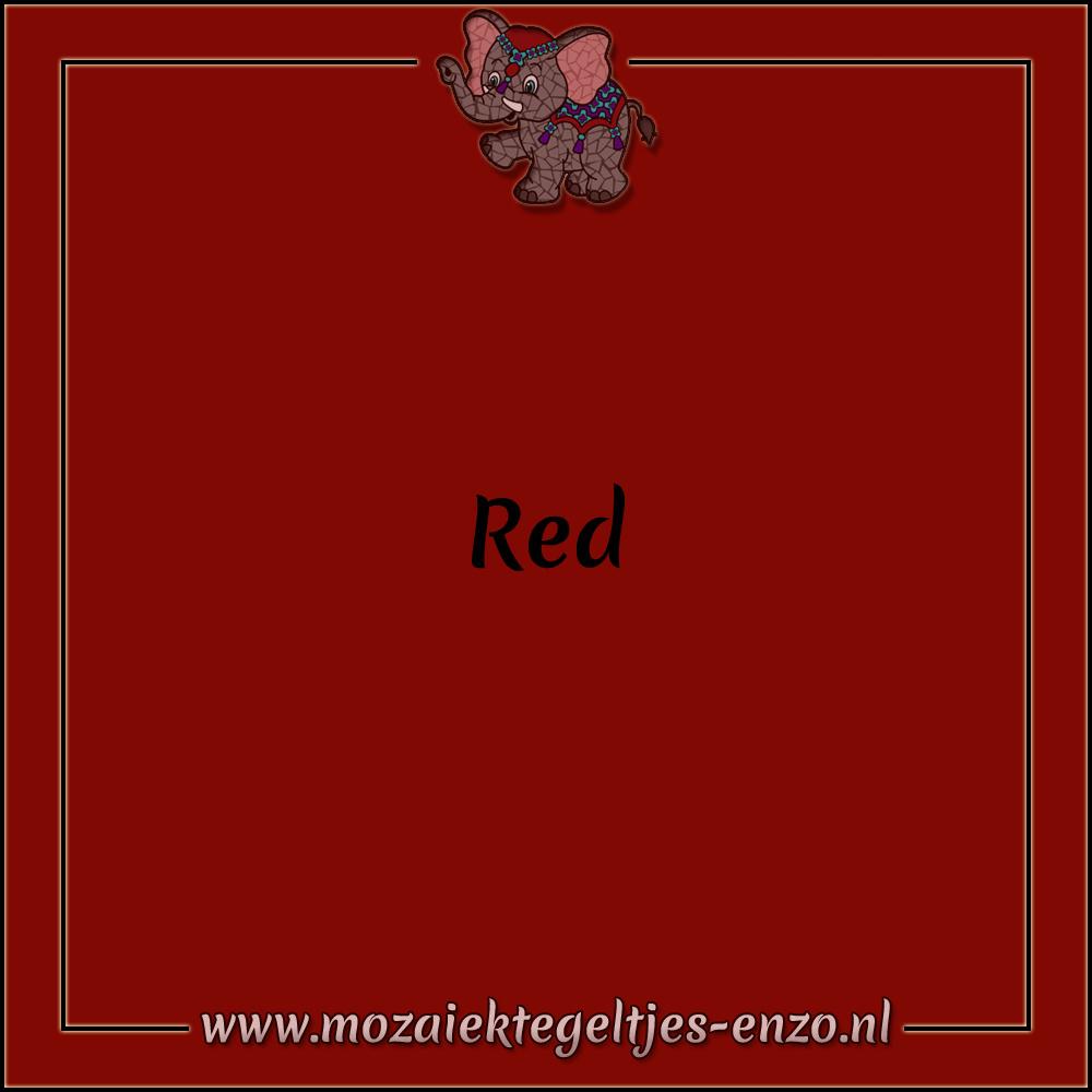 Tegel Glanzend   7,5x15cm   Op maat gesneden   1 stuks  Red