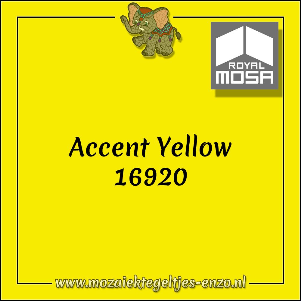 Royal Mosa Tegel Glanzend | 7,5x15cm | Op maat gesneden | 1 stuks |Accent Yellow 16920