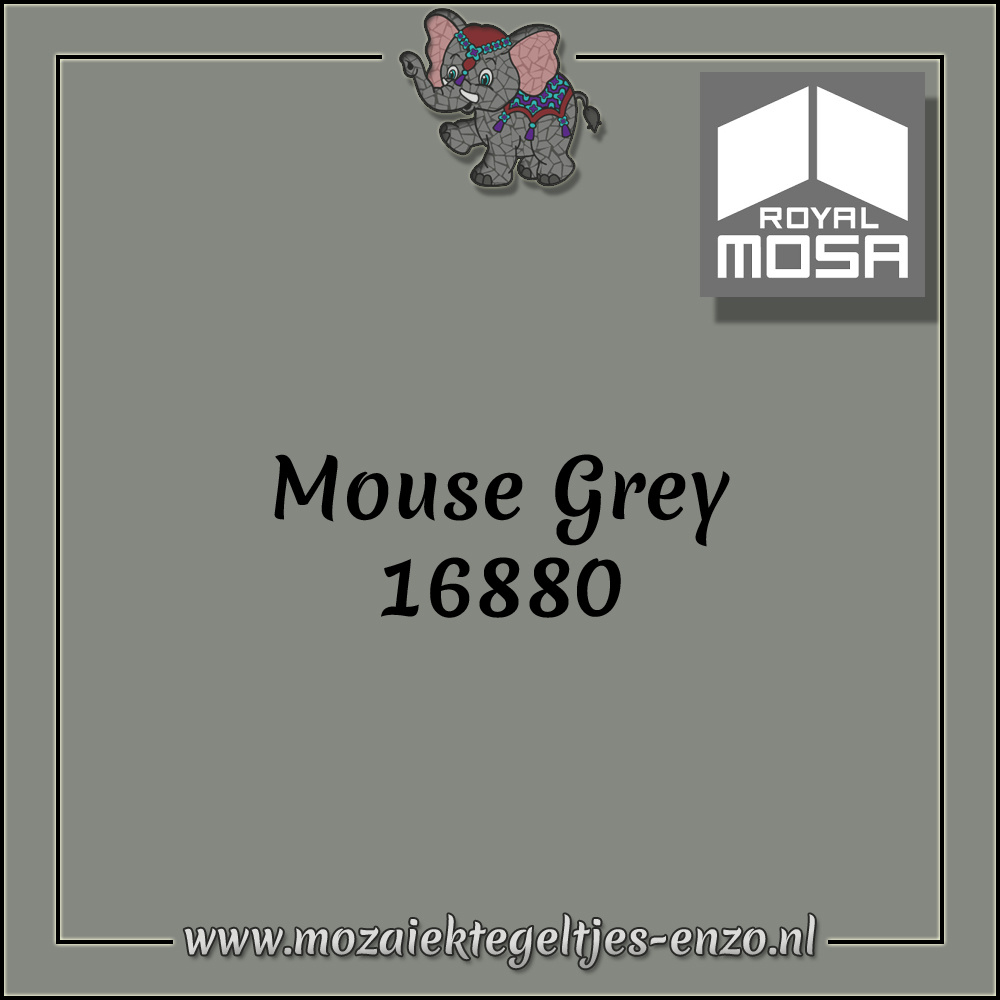 Royal Mosa Tegel Glanzend | 7,5x15cm | Op maat gesneden | 1 stuks |Mouse Grey 16880