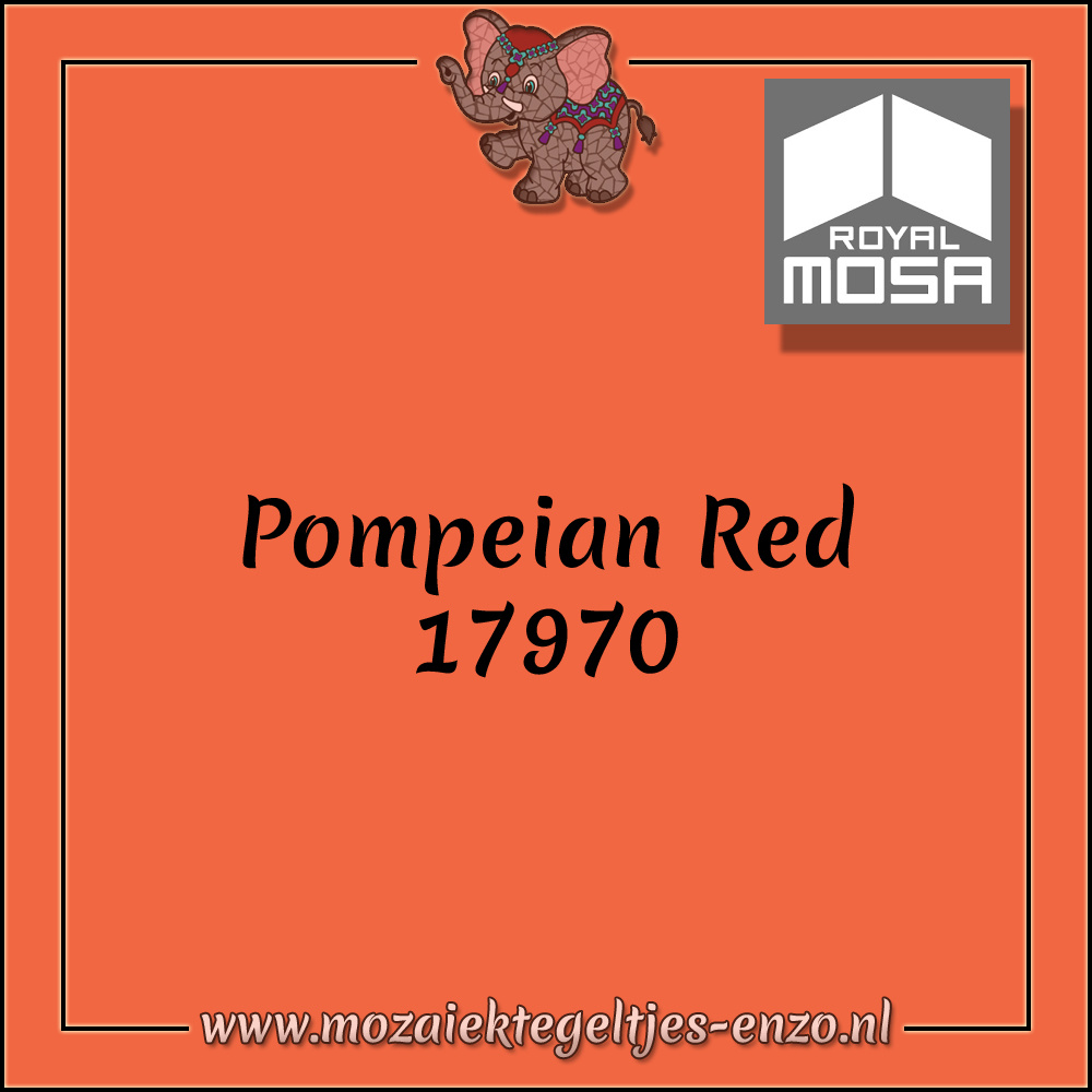 Royal Mosa Tegel Glanzend | 15cm | Op voorraad | 1 stuks | Pompeian Red 17970