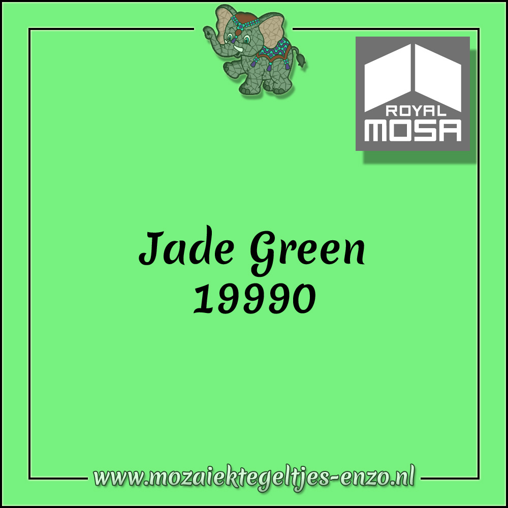 Royal Mosa Tegel Glanzend   15cm   Op voorraad   1 stuks   Jade Green 19990