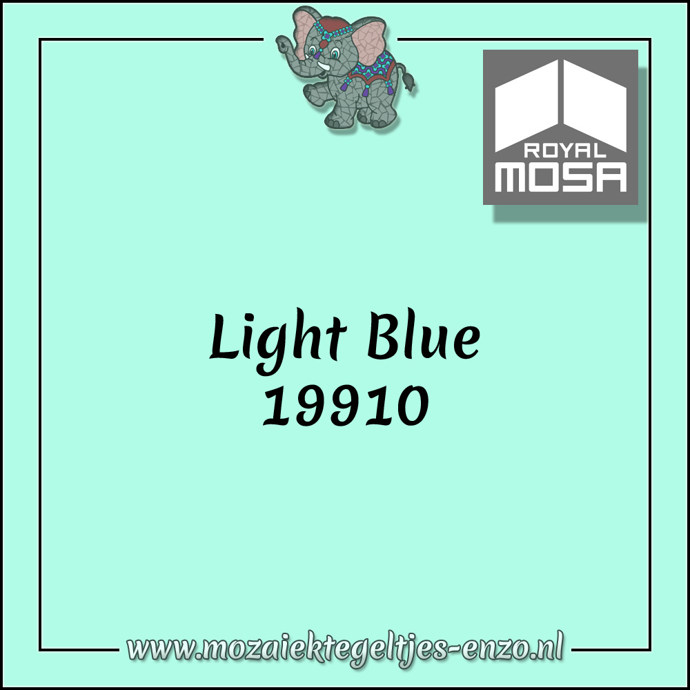 Royal Mosa Tegel Glanzend | 15cm | Op voorraad | 1 stuks | Light Blue 19910