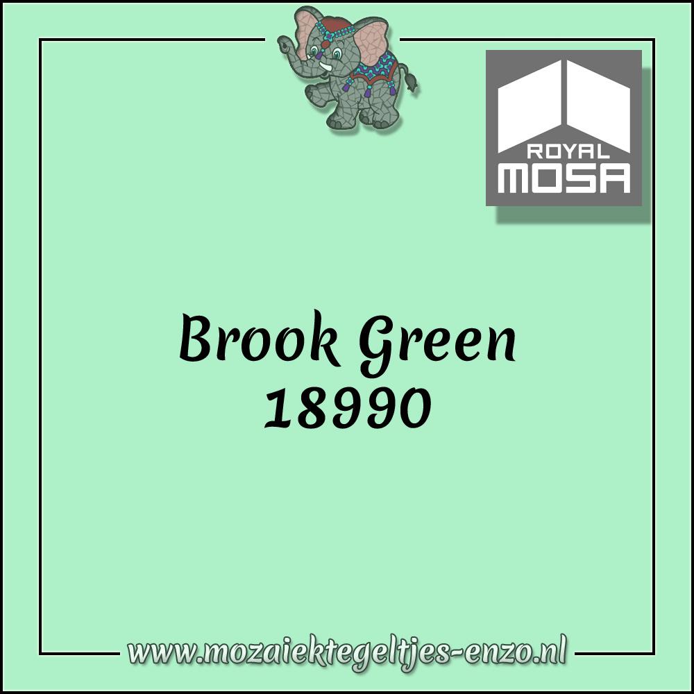 Royal Mosa Tegel Glanzend   15cm   Op voorraad   1 stuks   Brook Green 18990