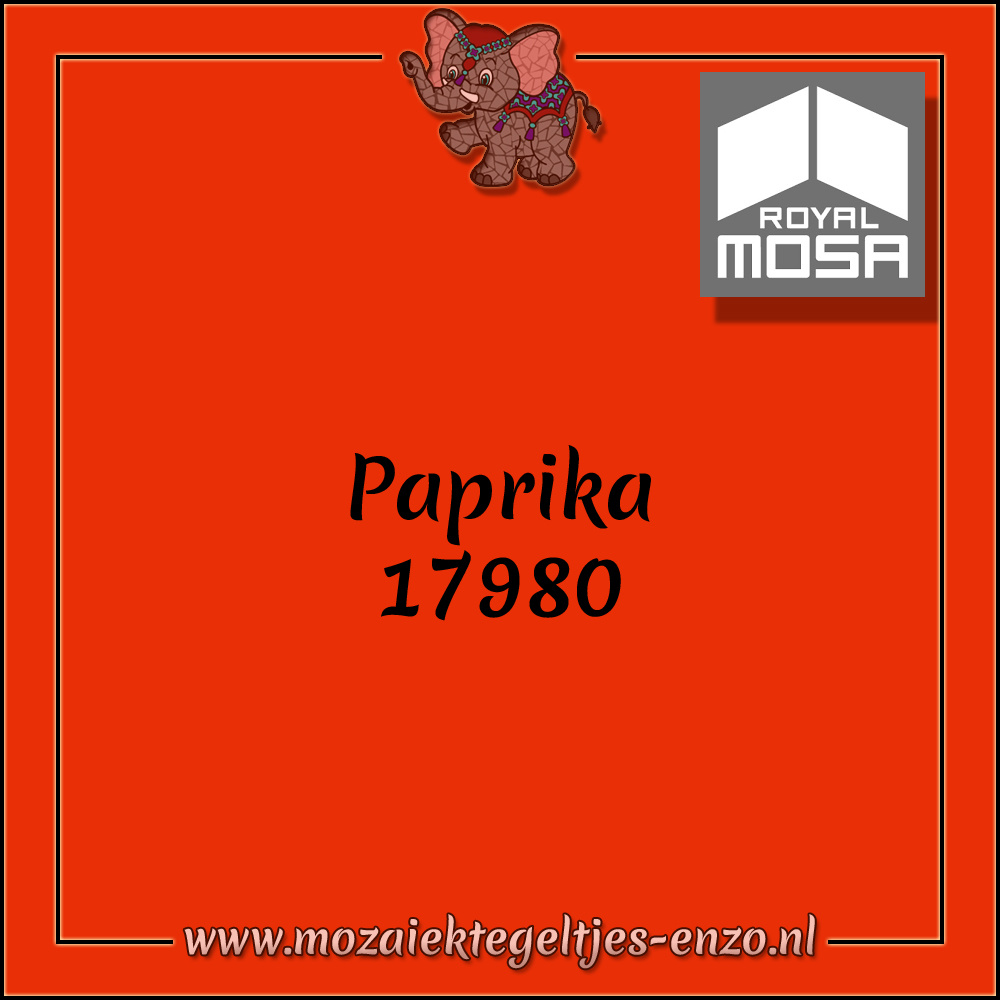 Royal Mosa Tegel Glanzend | 15cm | Op voorraad | 1 stuks | Paprika 17980