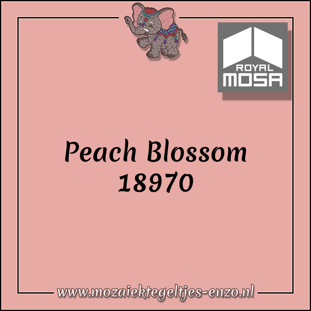 Royal Mosa Tegel Glanzend | 15cm | Op voorraad | 1 stuks | Peach Blossom 18970