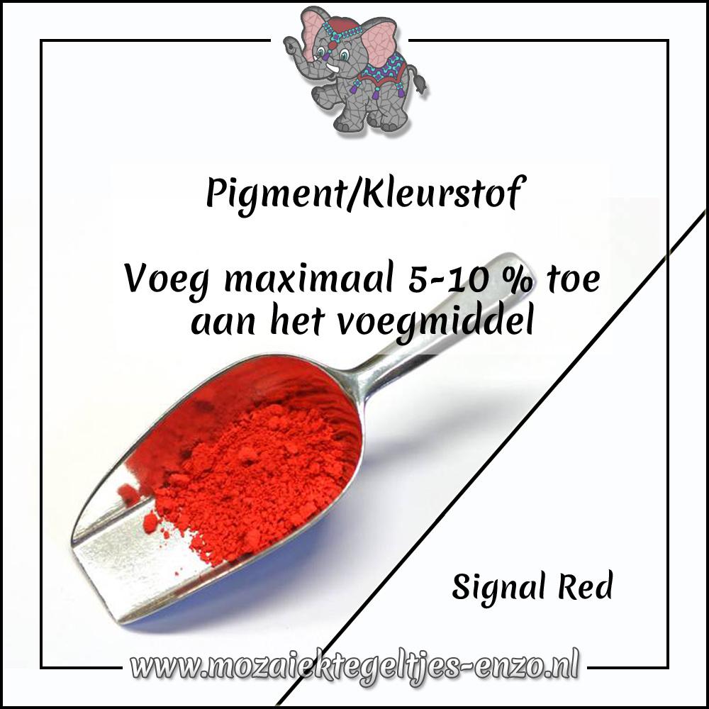 Pigment   Kleurstof voor voegmiddel   20 gram  Signal Red