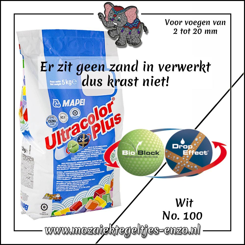 Voegmiddel | Mapei Ultracolor Plus | 500 gram |Wit 100